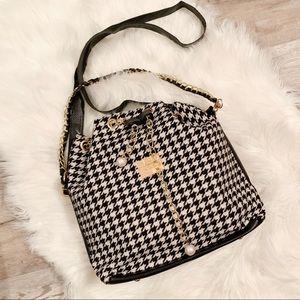 Handbags - NEW Houndstooth Crossbody/Shoulder Bucket Bag